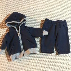 Carter's Newborn baby boy sweatsuit set